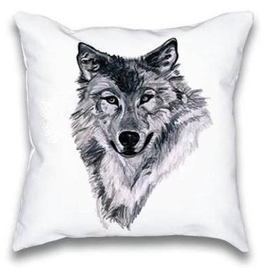 Farkasos, farkas grafikás díszpárna, gyerekszoba dekor párna, huzat + belső párna (EVYHomeDecor) - Meska.hu