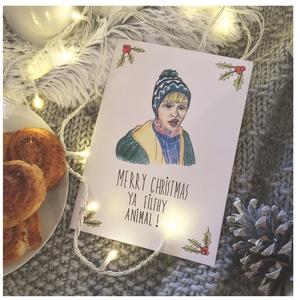 Karácsonyi képeslap Kevin McCallister rajzzal, Reszkessetek betörők grafikás képeslap, Kézműves kinyitható üdvözlőlap, Karácsonyi képeslap, Karácsony & Mikulás, Otthon & Lakás, Fotó, grafika, rajz, illusztráció, EGYEDI, SAJÁT FELIRATTAL IS RENDELHETŐ!\n\nHa Te is a 90-es évek szülötte vagy, akkor ismerős lehet Ke..., Meska