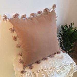 Marokkói stílusú, bohém, bojtos, díszpárnahuzat (45 x 45 cm) (EVYHomeDecor) - Meska.hu