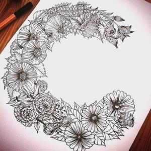 Egyedi, monogrammos díszpárnahuzat, kézzel rajzolt virágbetűből (40x40cm) (EVYHomeDecor) - Meska.hu