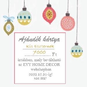 Ajándék Kártya, Ajándékutalvány, AJÁNDÉKKÁRTYA Személyre szabott, egyéni ajándékkártya (EVYHomeDecor) - Meska.hu