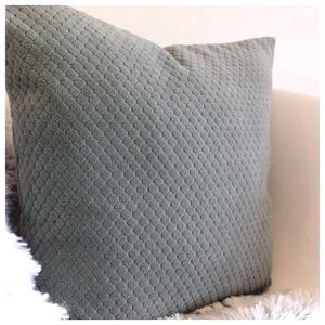 Acélkék modern, rombusz mintás díszpárnahuzat (40x40cm) - otthon & lakás - lakástextil - párna & párnahuzat - Meska.hu