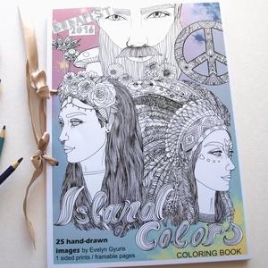 Színezőkönyv - 25 oldal - Kifestőkönyv 25 db külön oldal- ISLAND OF COLORS , Művészet, Grafika & Illusztráció, Fotó, grafika, rajz, illusztráció, ISLAND OF COLORS // SZÍNEK SZIGETE kézzel készített színezőgyűjtemény\n\nEbben a színező 25db eredetil..., Meska