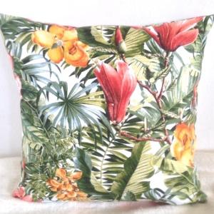 Hawaii mintás díszpárna, Pálmás trópusi  díszpárna, pálmaleveles trópusi díszpárna, dzsungeles díszpárna, Otthon & lakás, Dekoráció, Ünnepi dekoráció, Szerelmeseknek, Lakberendezés, Lakástextil, Párna, Varrás, Hímzés, TERMÉKLEÍRÁS:\nLevehető huzat + prémium belső párna\n• szín: acélkék-szürkéskék\n• méretek: 30x30cm, 30..., Meska