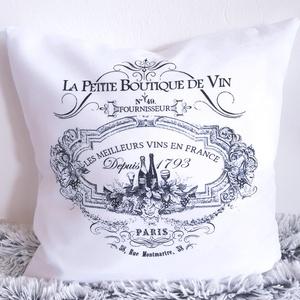 Rusztikus, Provence-i farmstílusú díszpárna, farm stílusú dekorpárna, francia hangulatú párna, huzat + belső párna, Lakberendezés, Otthon & lakás, Lakástextil, Párna, Varrás, Festészet, ELKÉSZÍTÉS & SZÁLLÍTÁS:\nElkészítési idő: 2-3 munkanap\nSzállítási idő GLS-sel: +1-2 munkanap\nSzállítá..., Meska