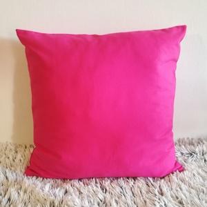 Pink magenta díszpárna, vastag dekorvászon díszpárna kanapéra, huzat + belső párna - Meska.hu