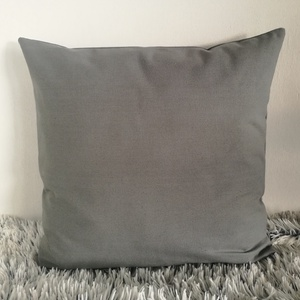 Világosszürke díszpárna, vastag dekorvászon díszpárna kanapéra, huzat + belső párna - Meska.hu