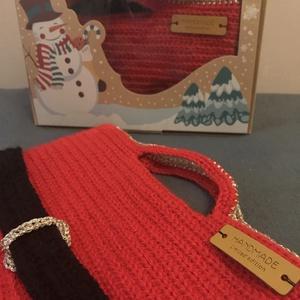 Mikulás zsák, Karácsony & Mikulás, Mikulás, Horgolás, Horgolt technikával készített Mikulás zsákomat pihe puha fonalból készítettem.\nA kellemes tapintás m..., Meska