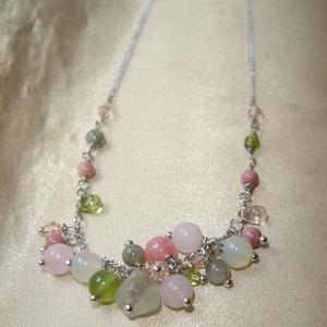 Spring blossom drótészer nyaklánc ásványokkal  (ExerM) - Meska.hu