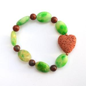 Őszi szerelem karkötő - ásványokkal (fabianildi) - Meska.hu