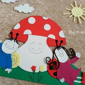 Gyerekszoba dekoráció dekorgumiból falmatrica gomba (fabkata) - Meska.hu