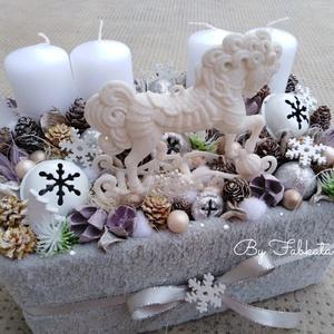 Pónis adventibox doboz karácsonyi asztaldísz (fabkata) - Meska.hu
