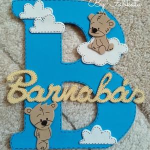 Névtábla Barnabás névhez dekorgumi betű dekor, Gyerek & játék, Gyerekszoba, Baba falikép, Otthon & lakás, Mindenmás, Egyedi névtáblák B betűs nevekhez. Dekorgumiból készül, kartonra van felragasztva, hátoldalon ragasz..., Meska