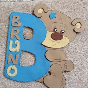 Névtábla B betűs névhez Teddy mackós dekorgumi , Gyerek & játék, Gyerekszoba, Baba falikép, Otthon & lakás, Mindenmás, Csak a képen szereplő név kérhető! \nRendelést nem tudunk vállalni! \n\nDekorgumiból készülnek a névtáb..., Meska