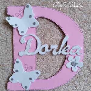 Névtábla  Dorka, Dorina névhez dekorgumi dekor, Gyerek & játék, Gyerekszoba, Baba falikép, Otthon & lakás, Mindenmás, Egyedi névtáblák D betűs névhez. Dekorgumiból készül, kartonra van felragasztva, hátoldalon ragasztó..., Meska