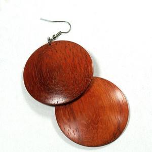 Fülbevaló paduk fából - egyedi, finom kidolgozású kézműves termék - Meska.hu