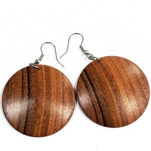 Fülbevaló paliszenderből - egyedi, finom kidolgozású kézműves termék fából - Meska.hu
