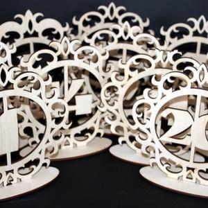 Esküvői asztalszámok 1-20-ig (fafantazia) - Meska.hu