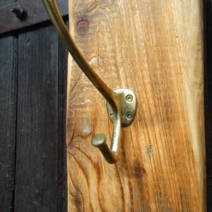 Réz fogas, Fogas, Bútor, Otthon & Lakás, Famegmunkálás, Klasszikus tömör réz fogas, egy nagyon szépen megmunkált fa talpon. A talp faolajjal be van kenve, í..., Meska