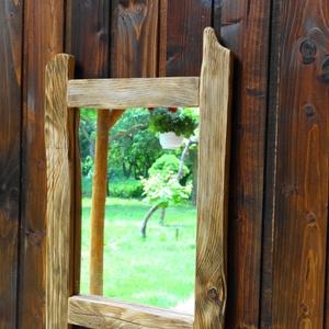 Tükör kerettel, Otthon & lakás, Dekoráció, Lakberendezés, Képkeret, tükör, Famegmunkálás, Új, fából készült tükörkeret. A benne lévő tükör már legalább 50 éves. A kertből könnyen kihúzható é..., Meska