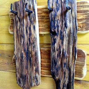 Törülköző tartó, Otthon & lakás, Lakberendezés, Famegmunkálás, Fenyő és akác fából készült rusztikus törülköző tartó. A fa részek nagyon szépen meg lettek munkálva..., Meska