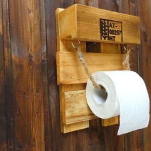 WC papír tartó raklapból (fafurdancs) - Meska.hu
