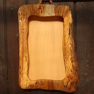 Képkeret, Otthon & Lakás, Tömör tölgy fából készült rusztikus képkeret. A belerakható kép mérete: 14X23 cm., Meska