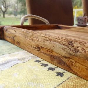 Fából készült tálca S méret - Meska.hu