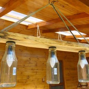 Rusztikus lámpa, Otthon & Lakás, Lámpa, Famegmunkálás, Meska