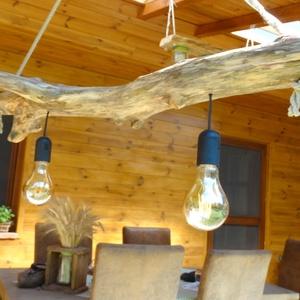 Egyedi lámpa, Otthon & Lakás, Lámpa, Fali & Mennyezeti lámpa, Famegmunkálás, Meska