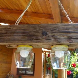 Lámpa, Otthon & Lakás, Lámpa, Fali & Mennyezeti lámpa, Famegmunkálás, Meska