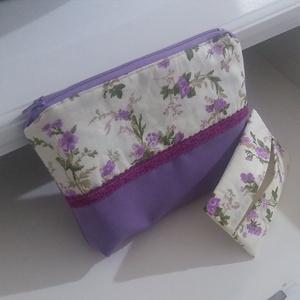 Lila virágos neszesszer és zsebkendőtartó (FairyTreasure) - Meska.hu