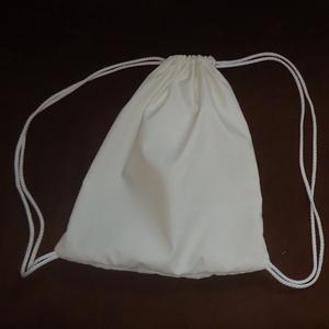 Fehér mini tornazsák - Meska.hu