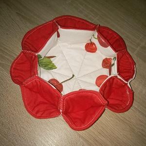 Cseresznyés asztali tojás vagy cukorkatartó, Otthon & Lakás, Dekoráció, Asztaldísz, Nagyon praktikus, mosható tojás vagy cukorkatartó, melyet tavaszi, nyári hangulatú cseresznye mintáv..., Meska