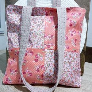 Virágos patchwork táska - Meska.hu