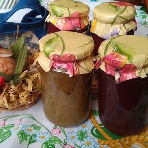 Lekvár-válogatás az Ünnepii kalácshoz, Kulinária (élelmiszer), Lekvár, Édességek, Élelmiszer előállítás, Lekvár-válogatás leírása, 4 db  370 ml –s lekvár    \n- Zöldteás mézes almalekvár –finom édesség, aká..., Meska