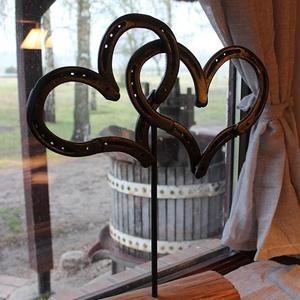 """Patkósziv \""""kettős szív \"""", Otthon & Lakás, Dekoráció, Kovácsoltvas, Patkószív: Különleges ajándék minden szerelmes számára, nem csak Valentin-napra:\n\nA két egymásba fon..., Meska"""
