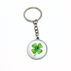 Szerencsehozó kulcstartó, táskadísz - négylevelű lóhere, szerencse, Táska & Tok, Kulcstartó & Táskadísz, Kulcstartó, Ékszerkészítés, Ezt a szerencsehozó négylevelű lóherés nemesacél alapú kiegészítőt használhatod kulcstartónak vagy t..., Meska