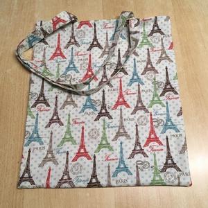 Párizs, Eiffel torony táska, szatyor, válltáska, bevásárló, tini vászon táska - táska & tok - bevásárlás & shopper táska - shopper, textiltáska, szatyor - Meska.hu