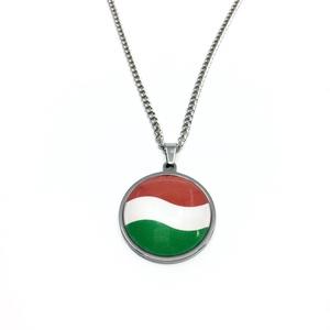 Magyar zászlós nemzetiszín nemesacél nyaklánc - női, férfi (FancyShop) - Meska.hu