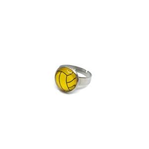 Vízilabda nemesacél gyűrű - állítható, Ékszer, Gyűrű, Sporteseményekre szurkoláshoz, ajándékba a vízilabda szerelmeseinek.  A gyűrű állítható, M méretű (m..., Meska