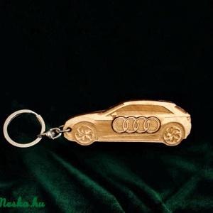 Kulcstartó Audi!, Férfiaknak, Egyéb, Kulcstartó, táskadísz, Táska, Divat & Szépség, Dekoráció, Otthon & lakás, Famegmunkálás, Mindenmás, Pyrograph lézertechnológiával megrajzolt,majd több fázisban kézzel és gondossággal összeállított saj..., Meska
