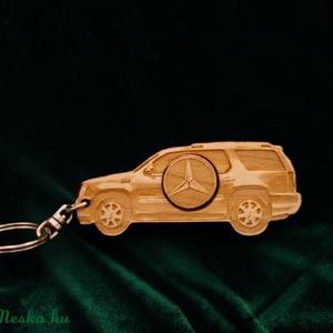 Kulcstartó Mercedes! II., Táska & Tok, Kulcstartó, Kulcstartó & Táskadísz, Famegmunkálás, Mindenmás, Meska