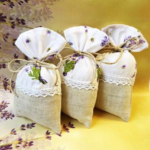 3 darab tölthető levendulazsák, Illatzsák, Dekoráció, Otthon & Lakás, Varrás, Töltsd meg illatos virággal és élvezd a jótékony hatásait vagy add ajándékba valamelyik szerettednek..., Meska