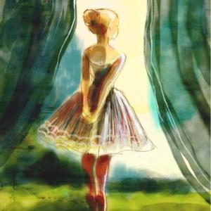 A kis balerina, Otthon & lakás, Dekoráció, Képzőművészet, Lakberendezés, Illusztráció, Kép, Fotó, grafika, rajz, illusztráció, Festészet, Kis peldanyszamban nyomtatott reprodukcio. Meret- A4.\n\najanlottan postazom.\nA szinek elterhetnek a m..., Meska