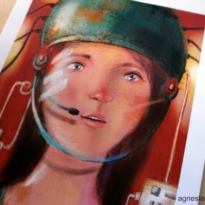 Space girl print  (FANYUVASZTO) - Meska.hu