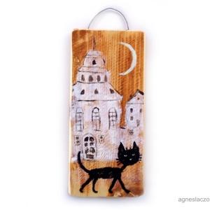 Fekete macska  AKCIOS ! (FANYUVASZTO) - Meska.hu