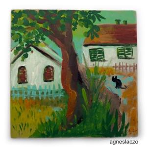 Szoba kiadó, Lakberendezés, Otthon & lakás, Képzőművészet, Napi festmény, kép, Festészet, Fotó, grafika, rajz, illusztráció, INGYENES POSTA !\n\nEredeti akrilik festmenyem, faroston.\nKepmeret : kb 14 x 14 cm.\nA KEPEN LATHATO KE..., Meska