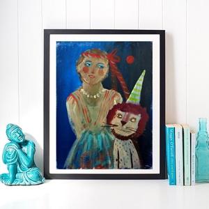 Cirkusz  , Akril, Festmény, Művészet, Festészet, Fotó, grafika, rajz, illusztráció, \n\nEredeti akrilik festmenyem.\nFeszitett vaszonra festve.\n\nMeret : kb 18 x 24 cm.\n\najanlottan postazo..., Meska