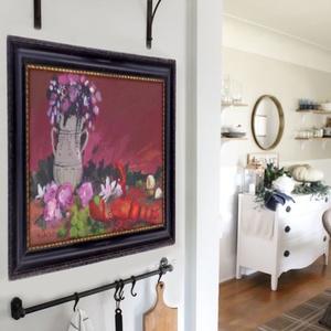 Mama konyhája , Lakberendezés, Otthon & lakás, Képzőművészet, Napi festmény, kép, Falikép, Festészet, Fotó, grafika, rajz, illusztráció, \nEredeti akrilik festmenyem kerettel. \n\nKepmeret : kb 41.5  x 31.5 cm.\nA keret eredeti regimodi, hel..., Meska